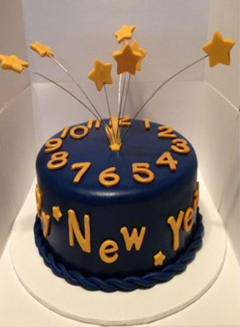 Cake For New Year Celebrations