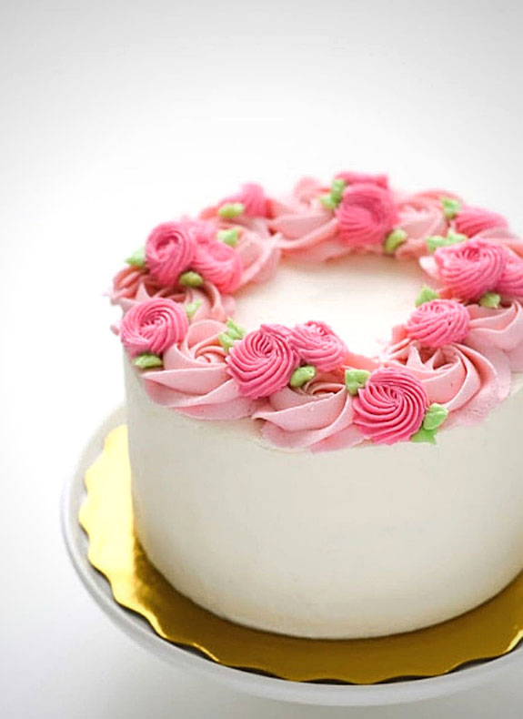 Cake with Flower Design