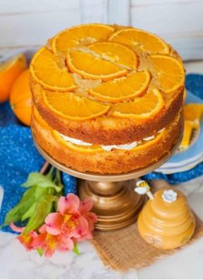 Up Down Orange Cake Honey